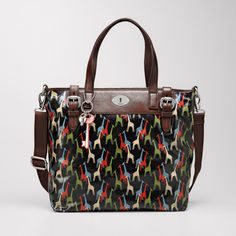 FOSSIL® Key-Per Tote. this print is amazing