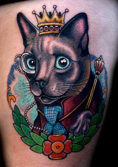 Cat tattoo - Sean Herman
