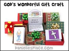 God's Gifts Craft from www.daniellesplace.com