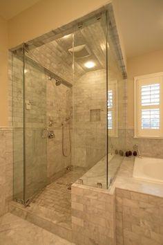 tile shower floor masterbath room | Master Bathroom 4 - Shower Close-Up - must have!! #mynewhome #newhome #nexthouse #bathroom #shower