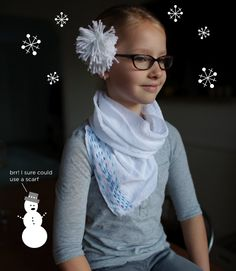 winter, holidays, scarves, holiday gifts, diy scarf, embroidery, crafty kids, the holiday