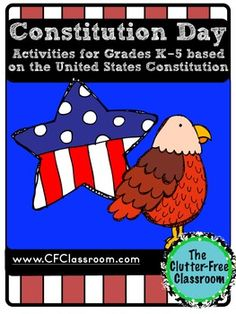 Did you know that on September 17th ALL teachers in schools that receive government funding are required to teach about the Constitution?   50+ page packet for grades K-5 with a choice of different activities included. There is certainly something for all abilities and levels and can be used year after year (even if you change grade levels).