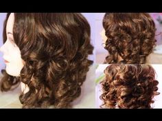 No Heat Paper Plate Curls -Heatless Voluminous Curls
