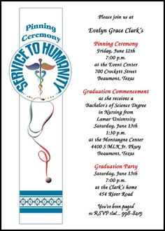 add a nurse pinning ceremony photo to your nursing school graduation announcements at InvitationsByU, card number 7609IBU-NR, with lots of discounts and promos