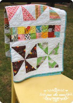 pinwheel & postage stamp quilt tutorial
