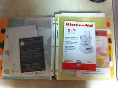 owner's manual organization binder