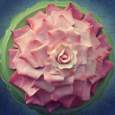 Sugar Rose Petal Cake