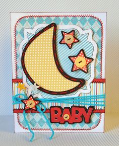 Baby card made with the #Cricut