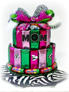 Special Mother's Day Candy Cake in beautiful fresh colors.