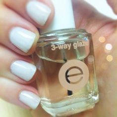 **To Make Manicures Last** Apply a thin coat of Essie 3-Way Glaze each day after a manicure.  It really works and keeps chips away!!