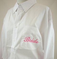 Bride Monogrammed Shirt Oversized Button Down by shopmemento, $45.00