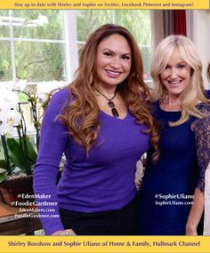 Follow Garden Lifestyle expert, Shirley Bovshow and Natural Living expert Sophie Uliano of the Home & Family Show, (Hallmark) on our websites and social media!