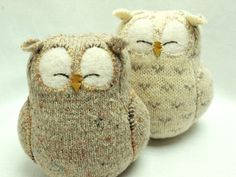 upcycled sweater owls