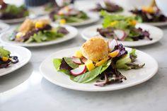 Arugula Salad Mango and Panko Fried Goat Cheese