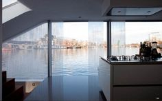 Modern Houseboat from Amsterdam – Panoramic View