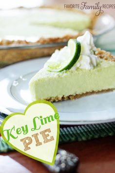 This recipe is straight from the Georgia - and it is so tart and creamy! #keylime #keylimepie