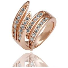 18K Rose Gold Plated Ring only $56.99 on http://starjewls.com/rings/18k-rose-gold-platted-ring.html