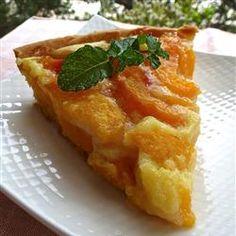 Peach Pie with Sour Cream Allrecipes.com