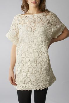 Love this. I had a crocheted dress like this when I was younger (and had better legs etc) I loved it but I can't believe I ever went out in it! Oh to be a little younger, thinner and with a little more self confidence.