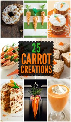 25 Carrot Creations from desserts to decorations - all very cute for Easter!! { lilluna.com }