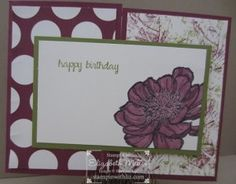 "Fun ""gate fold"" card featurng Stampin Up And Many More stamp set and Bloom with hope hostess set #stampinup"