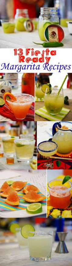 The best margarita recipes for any palate! Spicy, classics, fruity, the works! Check out all 13 recipes just in time for Cinco de Mayo. #recipes margarita recipes, best margarita