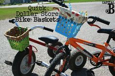 Capital B: Quick Dollar Store Bike Baskets!