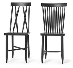 Two for $650 FAMILY CHAIR 1&2 BLACK