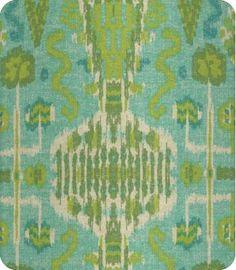Bombay Blue Green Ikat Fabric