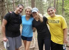 """Randi Olin's Family (Editor): """"The only family member missing from this hike-in-the-woods photo is our crazy but lovable dog Tobey."""""""