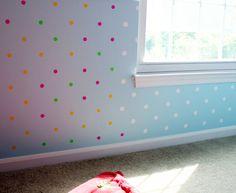 diy polka dot walls! love!