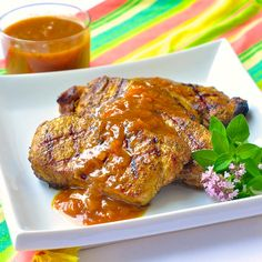Forget boring dinners! Whether grilled, broiled or pan fried, an easy plum chutney brings plenty of flavour to these fragrantly spiced succulent pork chops.