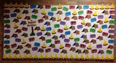 Summer Birthday Bulletin Board - Camp Out! Tents, Sleeping Bags and Campfires!
