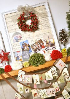 Christmas Card display board!