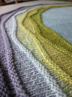 shawl patterns, wave, knit shawl