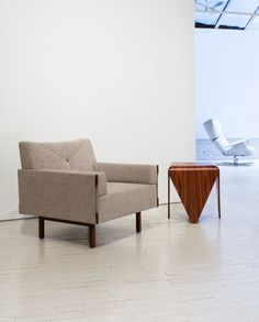 ina armchair and petalas side table by jorge zalszupin @ espasso gallery, new york