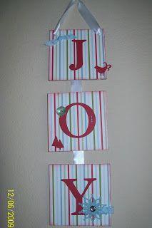 JOY banner   www.crazystampinglady.blogspot.com  Maureen Rauchfuss