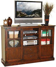 fe antiqu, sunni design, tv consoles, tvs, live room, antiqu consol, furniture, santa fe, hom furnitur