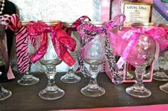 """These are the """"Redneck Wine Glasses"""" I saw at the craft fair...."""