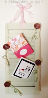 Here's a tutorial for upcycling an old shutter into a pin board organizer.