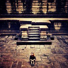 Tamar at Angkor Wat, Cambodia