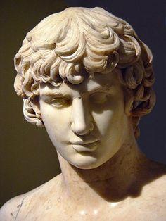 Roman marble statue of Antinous, 2nd century AD.
