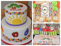 A Very Hungry Caterpillar First Birthday Party by Frosted Events   Cake, dessert bar buffet, party favors http://frostedevents.com/blog  @Frosted Events  #1stbirthday party #kidspartyideas #hungrycaterpillar