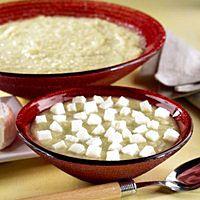 Potato Leek #Soup with our delicious #SaintAlbray #Cheese
