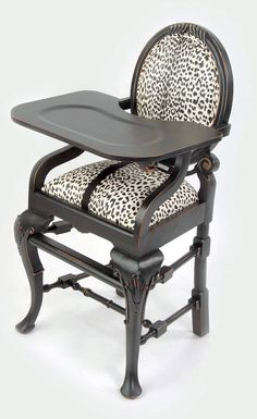 Love this!!!! baby high chair meets high style. I will have!!!