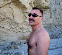beach combing leather daddy