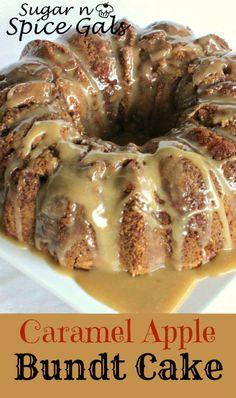 Caramel Apple Bundt Cake on MyRecipeMagic.com #cake #caramel #bundt #apple