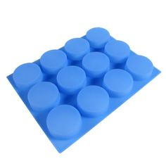 12 Bar Round Silicone Mold | Bramble Berry® Soap Making Supplies