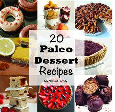 20 Paleo Dessert Recipes - http://MyNaturalFamily.com #paleo #dessert #recipes