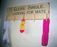 A single's ad for your lonely socks. #clutterfree